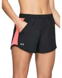 Under Armour - Printed Fly-by Running Shorts - Lyst