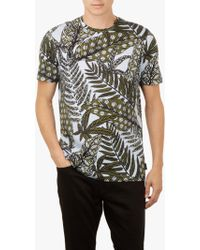 Ted Baker - Rice Leaf Printed T-shirt - Lyst