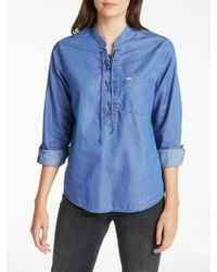 Lee Jeans - Long Sve Drawcord Shirt - Lyst