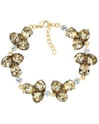 Monet - Glass Crystal Cluster Bracelet - Lyst