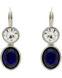 Monet - Crystal Leverback Drop Earrings - Lyst
