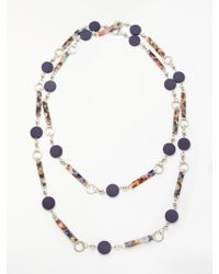 One Button - Marble Pop Long Necklace - Lyst