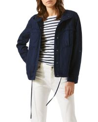 Jigsaw - Linen Mix Military Jacket - Lyst