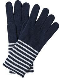 Pure Collection - Cashmere Stripe Gloves - Lyst