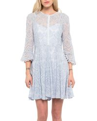 French Connection - Derna Broderie Draped Dress - Lyst