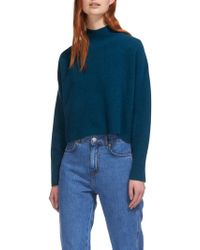 Whistles | Funnel Cropped Neck Wool Jumper | Lyst