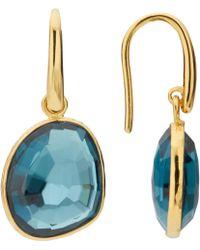 John Lewis - Semi-precious Stone Simple Drop Earrings - Lyst
