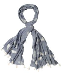 White Stuff - Chambray Embellished Pineapple Scarf - Lyst