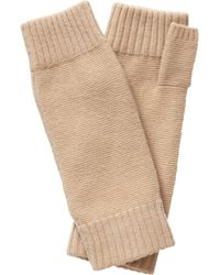 Pure Collection - Frankie Cashmere Textured Mittens - Lyst
