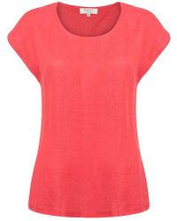 East - Combination Jersey Top - Lyst