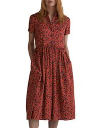 Toast - Daisy Print Cotton Sateen Shirt Dress - Lyst