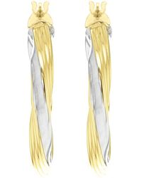 John Lewis - Ibb 9ct Gold Two Colour Creole Twist Earrings - Lyst