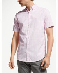 GANT - Windblown Oxford Check Short Sleeve Regular Shirt - Lyst