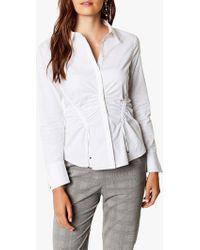 Karen Millen - Gathered Shirt - Lyst