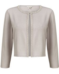 Jacques Vert - Beaded Front Cardigan - Lyst