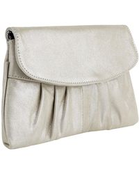 Jacques Vert - Metallic Leather Clutch Bag - Lyst