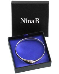 John Lewis - Nina B Solid Sterling Silver Bangle - Lyst
