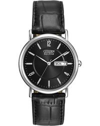 Citizen | Bm8240-03e Men's Classic Day Date Leather Strap Watch | Lyst