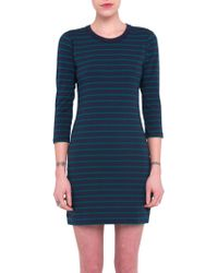 French Connection - Tim Tim Striped Dress - Lyst