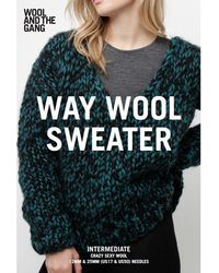 Wool And The Gang - Women's Waywool Jumper Knitting Pattern - Lyst
