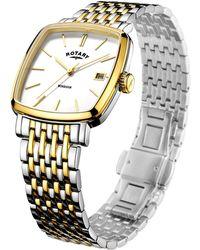John Lewis - Rotary Gb05306/01 Men's Windsor Date Two Tone Bracelet Strap - Lyst