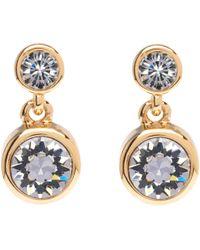 Karen Millen - Swarovski Crystal Dot Drop Earrings - Lyst