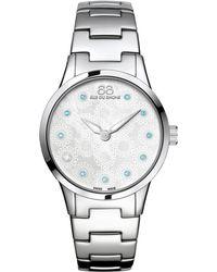 88 Rue Du Rhone - 87wa153210 Women's Rive Blue Topaz And Diamond Filigree Dial Bracelet Strap Watch - Lyst