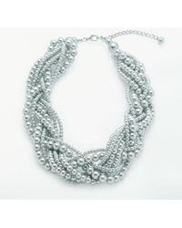 John Lewis - Twist Faux Pearl Necklace - Lyst