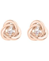 Ib&b - 9ct Gold Knot Stud Earrings - Lyst