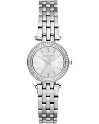 Michael Kors - Women's Darci Petite Stainless Steel Crystal Bracelet Strap Watch - Lyst