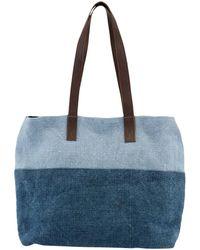 East - Contrast Jute Hobo Shopper Bag - Lyst