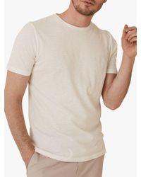 Reiss - Kenny Melange Crew Neck T-shirt - Lyst
