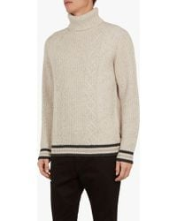 Ted Baker - Son Chunky Roll Neck Jumper - Lyst