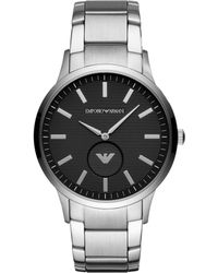 Emporio Armani - Men's Textured Dial Bracelet Strap Watch - Lyst