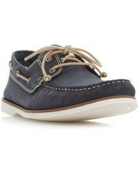 Bertie - Battleship Nubuck Leather Boat Shoes - Lyst