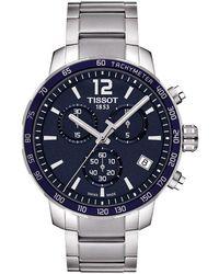 Tissot - T0954171104700 Men's Quickster Chronograph Date Bracelet Strap Watch - Lyst