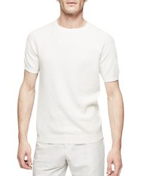 Reiss - Roger Textured Knit Cotton T-shirt - Lyst