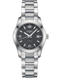 Longines - L22854566 Women's Conquest Classic Automatic Date Bracelet Strap Watch - Lyst