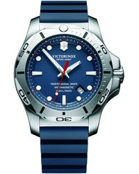 Victorinox - 241734 Men's I.n.o.x Diver Rubber Strap Watch - Lyst