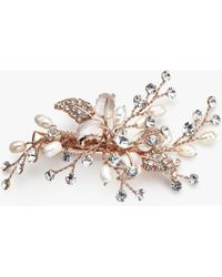 Ivory & Co. - Small Freshwater Pearl And Cubic Zirconia Hairslide - Lyst