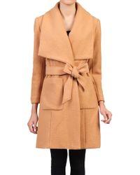 Jolie Moi - Wool Blend Wrap Coat - Lyst