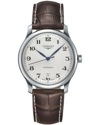 Longines - L26284783 Men's Master Collection Automatic Date Alligator Leather Strap Watch - Lyst