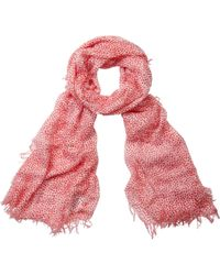 Pure Collection - Animal Print Scarf - Lyst
