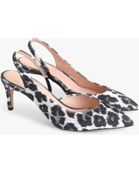 J.Crew - Colette Slingback D'orsay Court Shoes In Leopard - Lyst