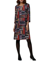 East - Marcelle Check Shift Dress - Lyst
