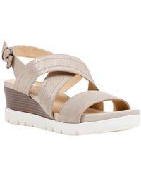 Geox - Mary Karmen Cross Strap Wedge Heel Sandals - Lyst