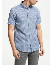 GANT - Tech Prep Seersucker Stripe Regular Short Sleeve Shirt - Lyst