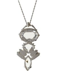 John Lewis - Cabinet Sterling Silver Swarovski Crystal Crested Pendant - Lyst