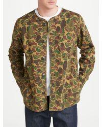 John Lewis - Collarless Camo Print Shirt - Lyst