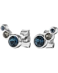 Dyrberg/Kern | Dyrberg/kern Lini Coloured Swarovski Small Stud Earrings | Lyst
